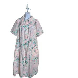 KELLY REED Floral  House Dress Duster Size L